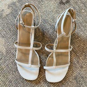 Ann Taylor Holland Leather Block Heel Sandals